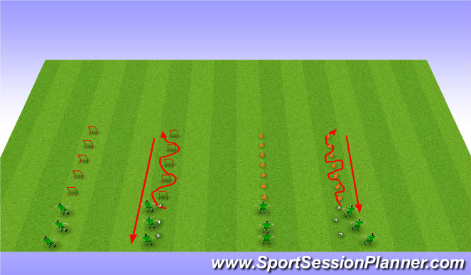 Football/Soccer Session Plan Drill (Colour): Aerobic Power fitness