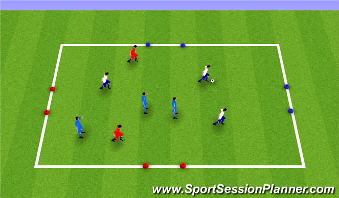 Football/Soccer Session Plan Drill (Colour): Madrid Possesion