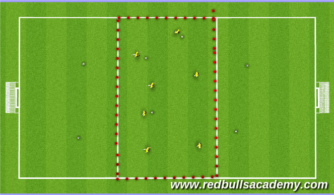 Football/Soccer Session Plan Drill (Colour): 50 Touches