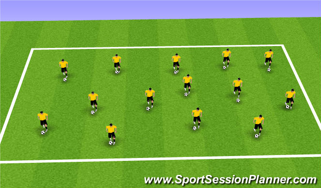 Football/Soccer Session Plan Drill (Colour): Warm-up-Juggling