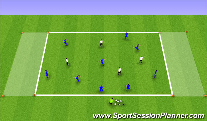 Football/Soccer Session Plan Drill (Colour): SIII 9v4 Possession