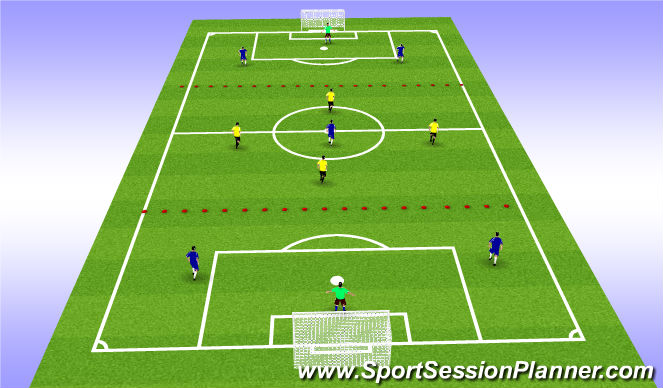 Football/Soccer Session Plan Drill (Colour): mid diamond