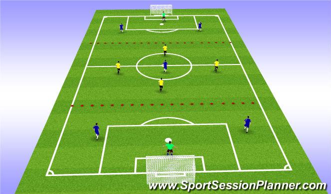 Football/Soccer Session Plan Drill (Colour): mid diamond