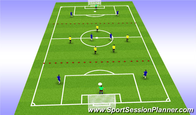 Football/Soccer Session Plan Drill (Colour): mid 5