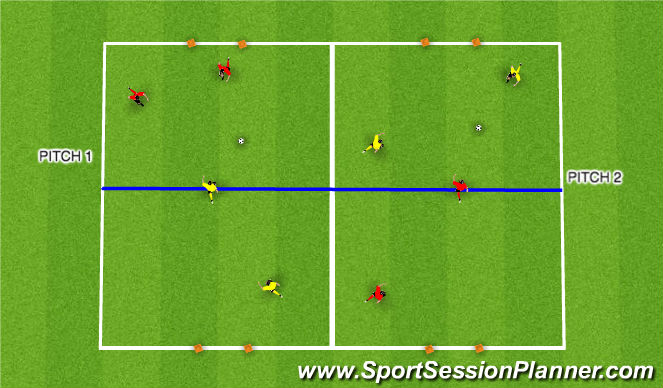 Football/Soccer Session Plan Drill (Colour): Panna
