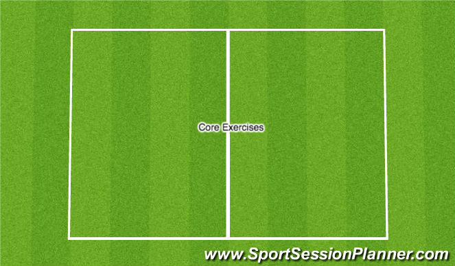 Football/Soccer Session Plan Drill (Colour): Core Exercises