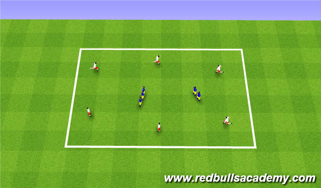 Football/Soccer Session Plan Drill (Colour): Chain tag