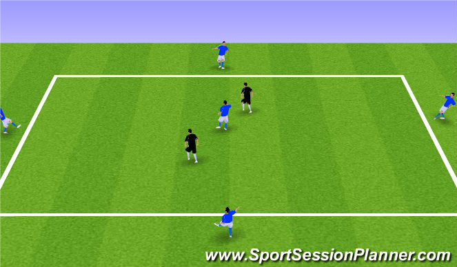 Football/Soccer Session Plan Drill (Colour): 5v2's