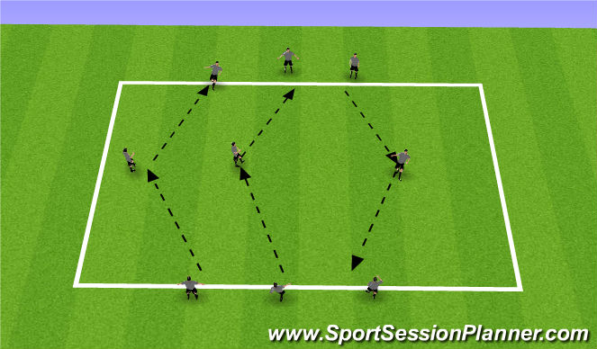 Football/Soccer Session Plan Drill (Colour): Technical Passing and Receiving