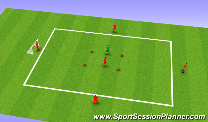 Football/Soccer Session Plan Drill (Colour): Shield and Hold the Ball