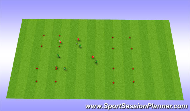 Football/Soccer Session Plan Drill (Colour): 4 corners game