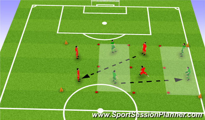 Football/Soccer Session Plan Drill (Colour): Prog 3