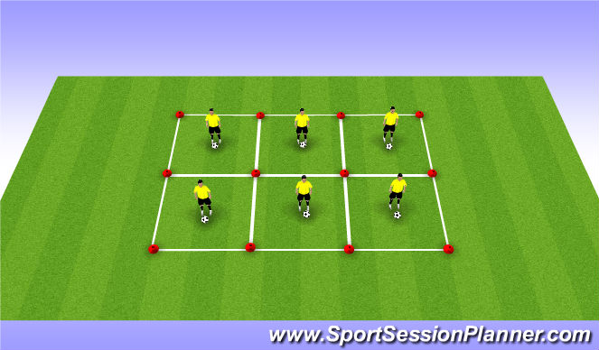 Football/Soccer Session Plan Drill (Colour): Basis 1