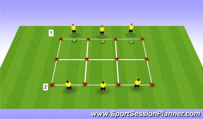 Football/Soccer Session Plan Drill (Colour): Vorm 2