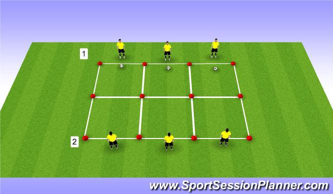 Football/Soccer Session Plan Drill (Colour): Vorm 2