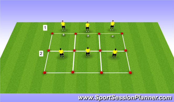 Football/Soccer Session Plan Drill (Colour): Vorm 3