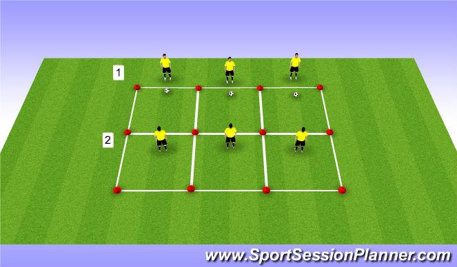 Football/Soccer Session Plan Drill (Colour): Vorm 3