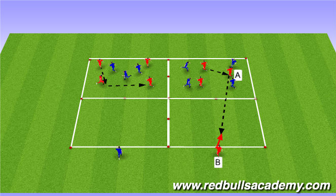 Football/Soccer Session Plan Drill (Colour): Warm up- Transition