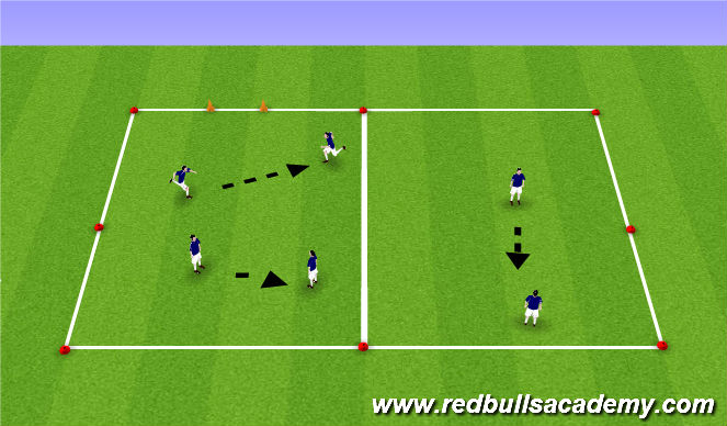 Football/Soccer Session Plan Drill (Colour): W/up