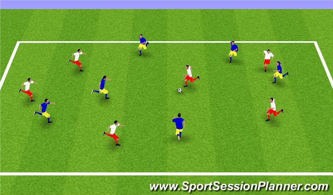Football/Soccer Session Plan Drill (Colour): 21 - Possession