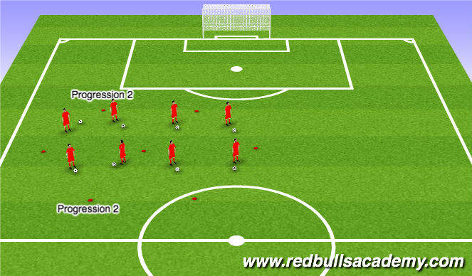 Football/Soccer Session Plan Drill (Colour): Warm up and Main Activity- Up-down moves
