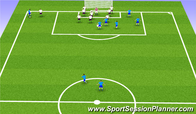 Football/Soccer Session Plan Drill (Colour): Set Piece