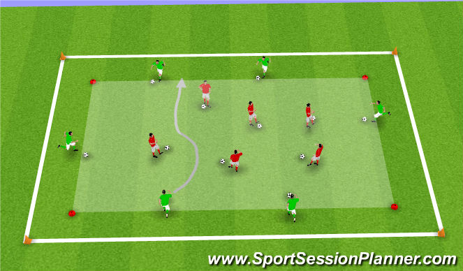 Football/Soccer Session Plan Drill (Colour): S.P 1