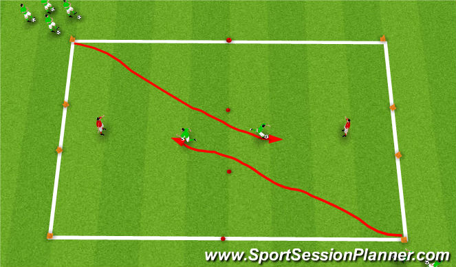 Football/Soccer Session Plan Drill (Colour): G.R 1