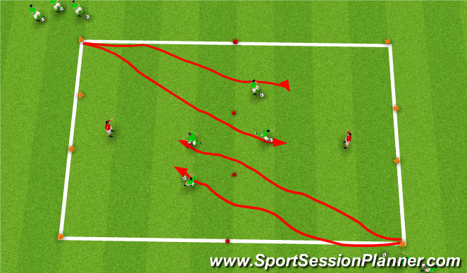 Football/Soccer Session Plan Drill (Colour): G.R 2