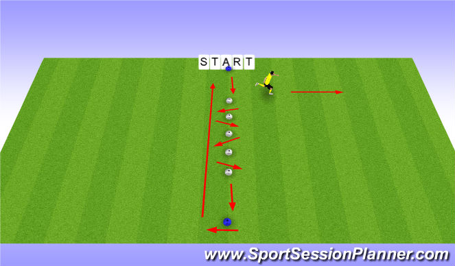 Football/Soccer Session Plan Drill (Colour): forward diags