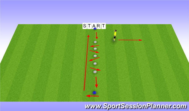 Football/Soccer Session Plan Drill (Colour): back diags