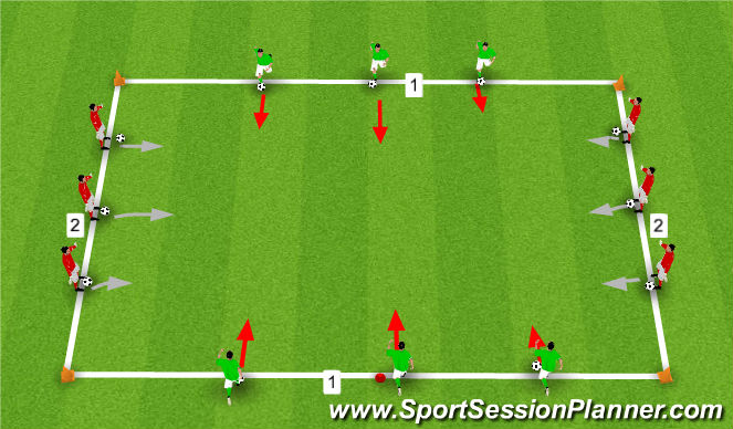 Football/Soccer: Dribbling and running with the ball - 8 to