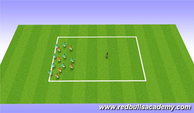 Football/Soccer Session Plan Drill (Colour): redlight greenlight