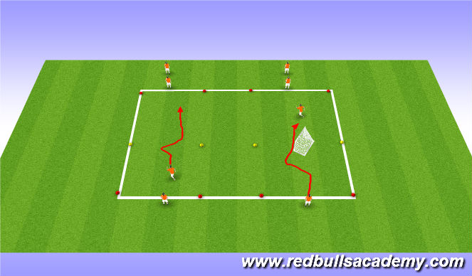 Football/Soccer Session Plan Drill (Colour): inside outside cut