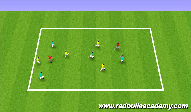 Football/Soccer Session Plan Drill (Colour): Capture the flag (scream jar)