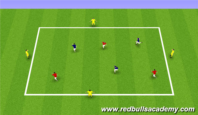 Football/Soccer Session Plan Drill (Colour): Fully Opposed 1