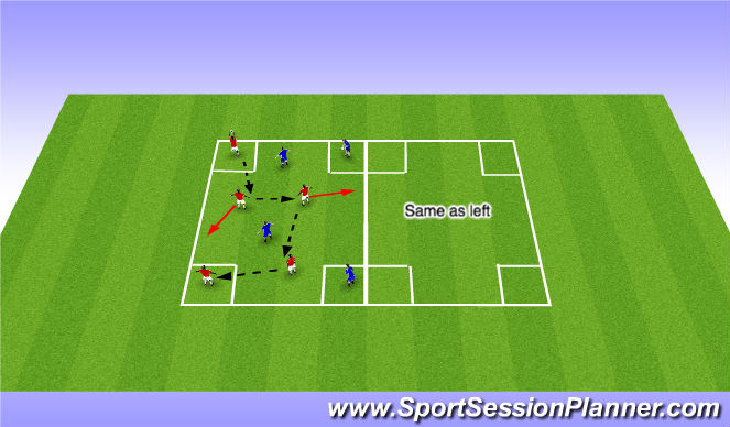 Football/Soccer Session Plan Drill (Colour): Fundemental Movement (Warm Up)
