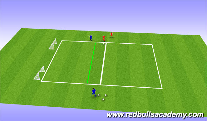Football/Soccer Session Plan Drill (Colour): 1v1 no ball