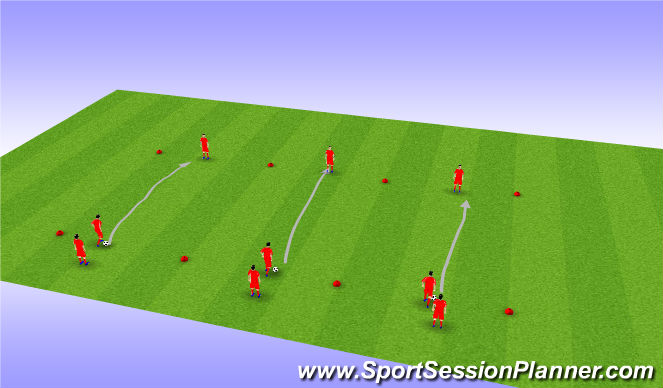 Football/Soccer Session Plan Drill (Colour): Passing Lanes