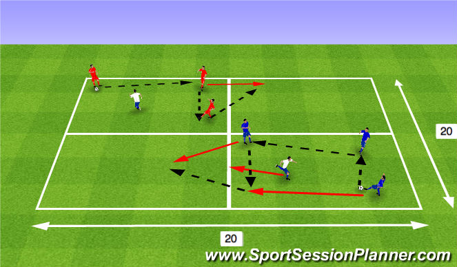 Football/Soccer Session Plan Drill (Colour): Rondos part 2