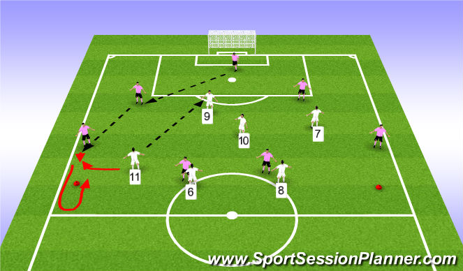 Football/Soccer Session Plan Drill (Colour): GRP 2a