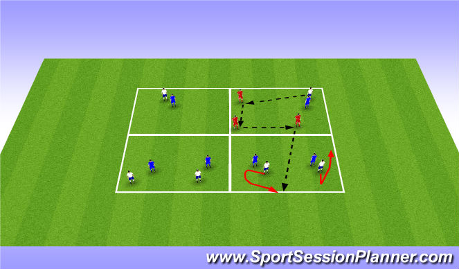 Football/Soccer Session Plan Drill (Colour): Lose marker rondo