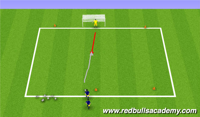 Football/Soccer Session Plan Drill (Colour): Breakaway 1