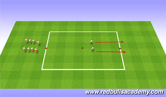 Football/Soccer Session Plan Drill (Colour): Arrival/SAQ