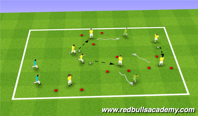 Football/Soccer Session Plan Drill (Colour): Tom + Jerry