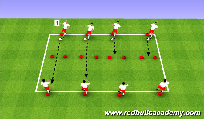 Football/Soccer Session Plan Drill (Colour): Passing - Technical