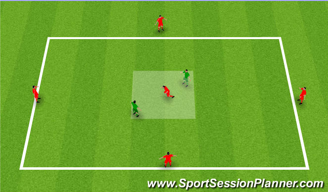 Football/Soccer Session Plan Drill (Colour): Possession