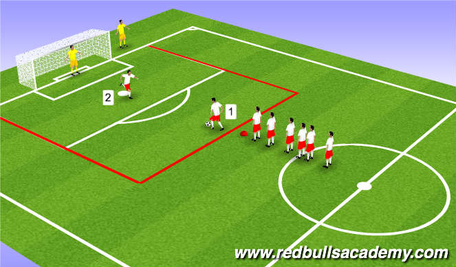 Football/Soccer Session Plan Drill (Colour): Main Theme (Part 3)