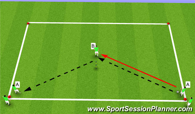 Football/Soccer Session Plan Drill (Colour): Warm-up Passing