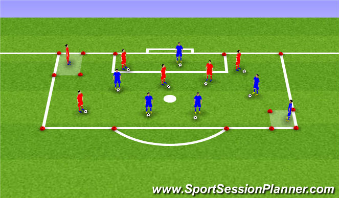 Football/Soccer Session Plan Drill (Colour): Doctor Doctor